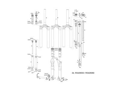 Rock Shox Csu 2-step/Soloair/Coil/Dual Position Totem 10-13 Tapered Black Crown