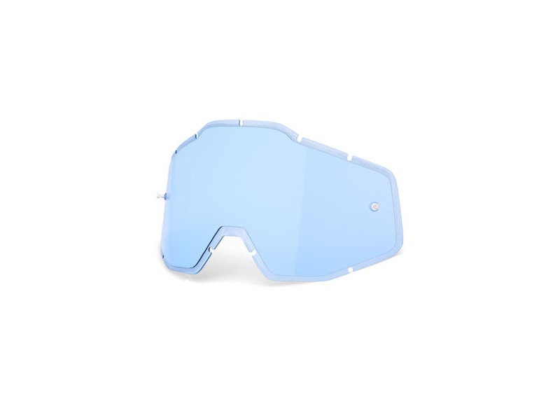 100% Accuri / Racecraft / Strata Anti-Fog Injected Replacement Lens Blue click to zoom image