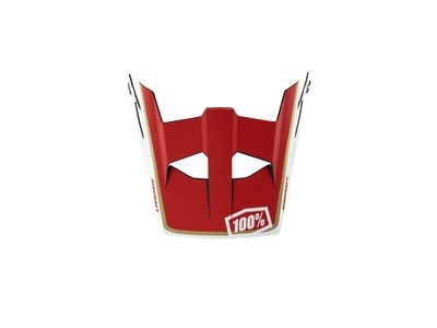 100% Aircraft Replacement Visor - LTD Red