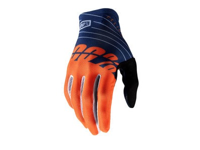 100% Celium Glove Navy / Orange
