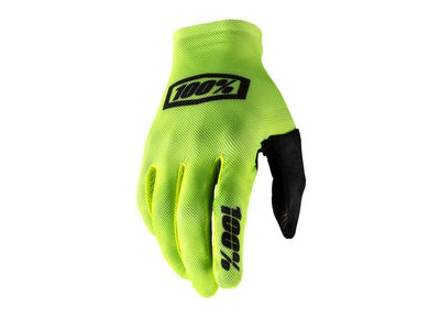 100% Celium Glove Fluo Yellow / Black