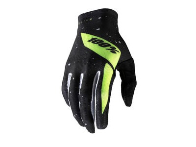 100% Celium Glove Black / Fluo Yellow