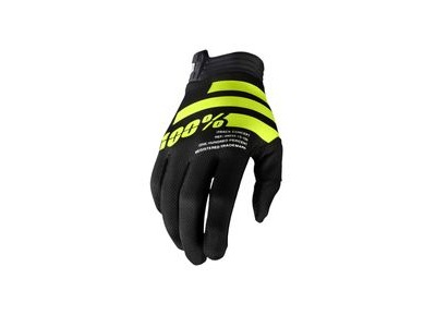 100% iTrack Glove Black / Fluo Yellow