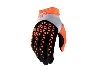 100% Airmatic Glove Orange / Black