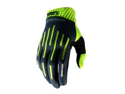 100% Ridefit Glove Fluo Yellow / Charcoal