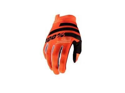 100% iTrack Youth Glove Fluo Orange / Black