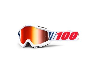 100% Accuri Goggles AF066 / Red Mirror Lens