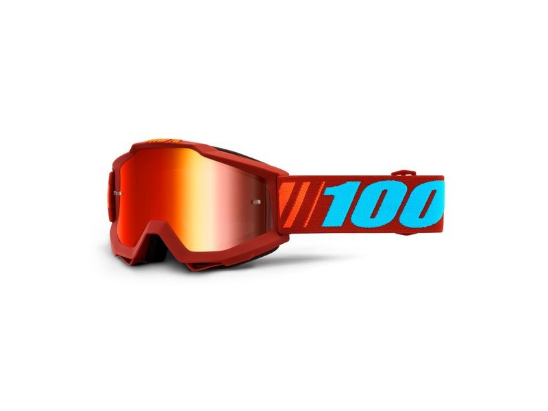 100% Accuri Goggles Dauphine / Red Mirror Lens click to zoom image