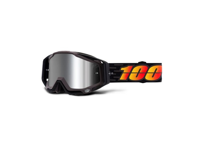 100% Racecraft + Goggles Costume / Injected Silver Mirror Lens click to zoom image