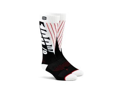 100% TORQUE Comfort Moto Socks Black / White