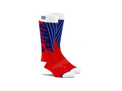 100% TORQUE Comfort Moto Socks Red / Blue