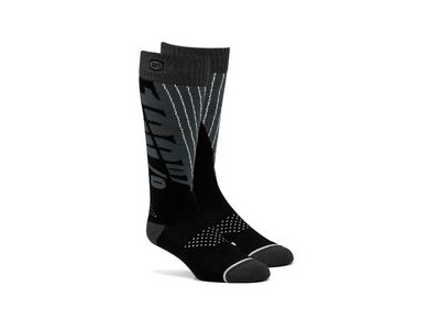100% TORQUE Comfort Moto Socks Black / Steel Grey