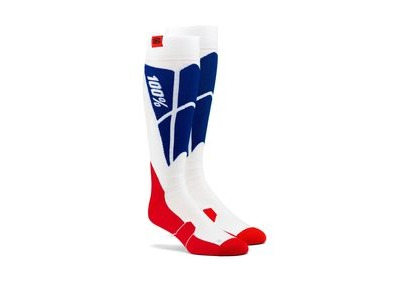 100% HI SIDE Performance Moto Socks White / Blue
