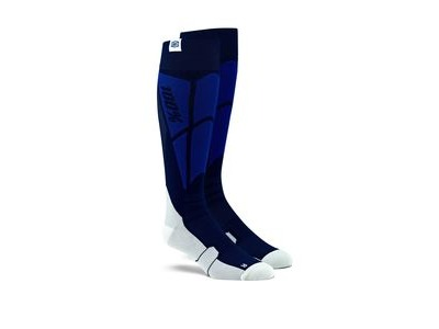 100% HI SIDE Performance Moto Socks Navy / Grey