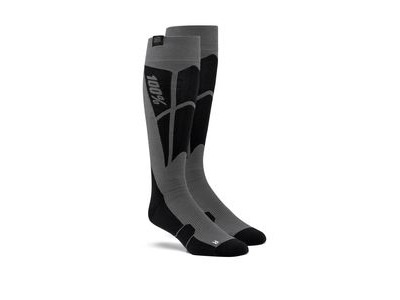 100% HI SIDE Performance Moto Socks Black / Steel Grey
