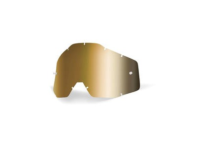 100% Accuri / Racecraft / Strata Anti-Fog Replacement Lens - Gold Mirror
