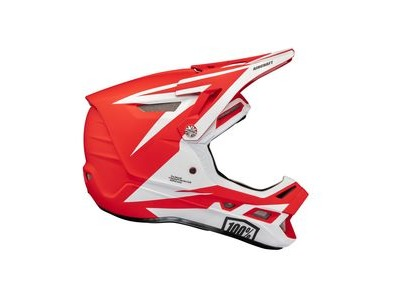 100% Aircraft Composite Helmet Rapidbomb / Red