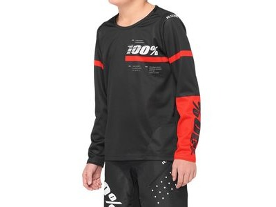 100% R-Core Youth Jersey Black / Red