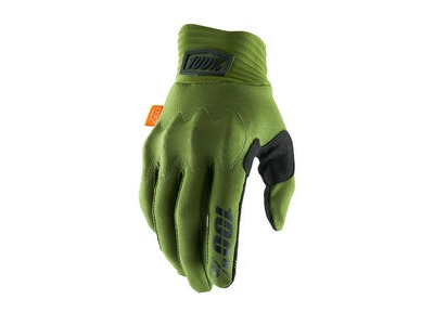100% Cognito D30 Glove 2019 Army Green / Black