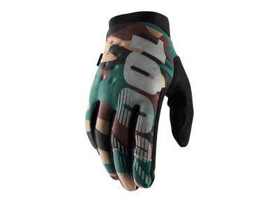 100% Brisker Cold Weather Glove 2019 Camo / Black