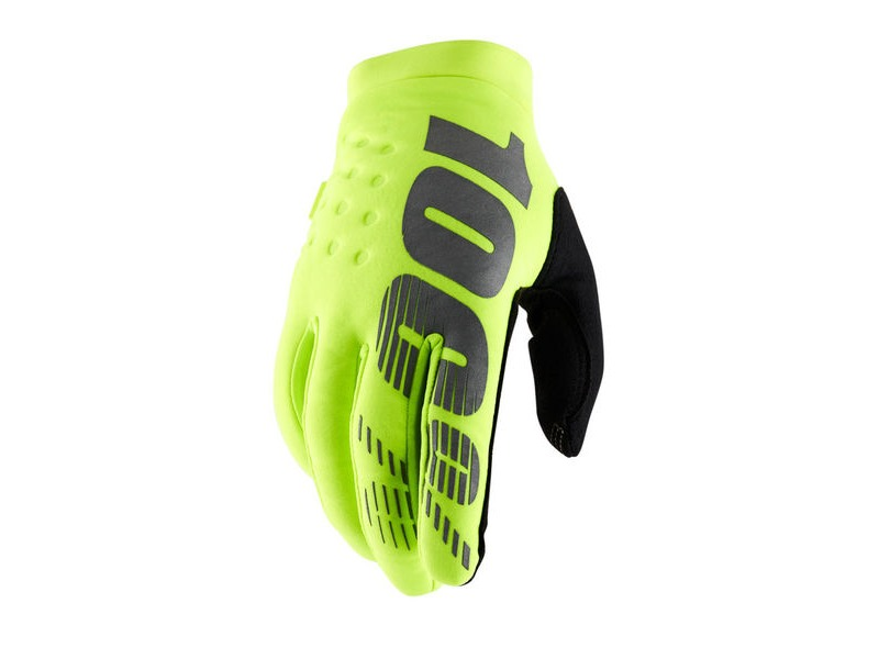 100% Brisker Cold Weather Youth Glove 2019 Fluo Yellow click to zoom image