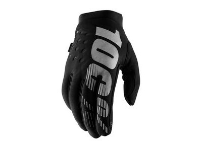 100% Brisker Cold Weather Youth Glove 2019 Black / Grey
