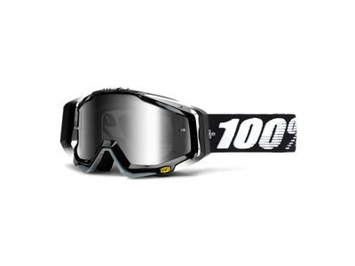 100% Racecraft Goggles Abyss Black / Silver Mirror Lens
