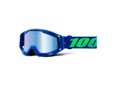 100% Racecraft Goggles Dreamflow / Blue Mirror Lens