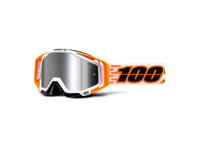 100% Racecraft + Goggles Illumina / Injected Silver Mirror Lens