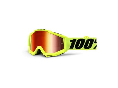 100% Accuri Goggles Fluo Yellow / Red Mirror Lens