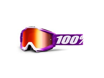 100% Accuri Goggles Framboise / Red Mirror Lens