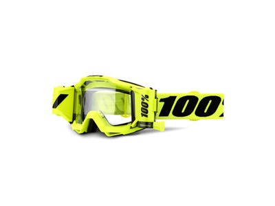 100% Accuri Forecast Goggles Fluo Yellow / Black / Clear Lens