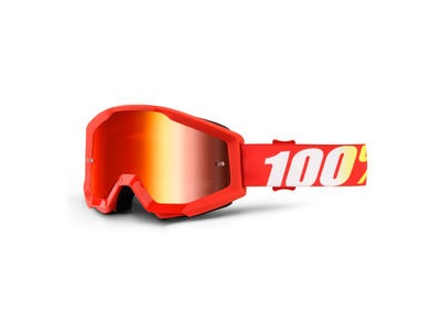 100% Strata Goggles Furnace / Red Mirror Lens