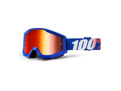 100% Strata Goggles Nation / Red Mirror Lens