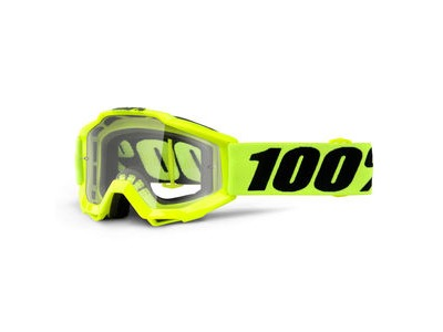 100% Accuri Youth Goggles Fluo Yellow / Clear Lens