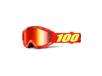 100% Accuri Youth Goggles Saarinen / Red Mirror Lens