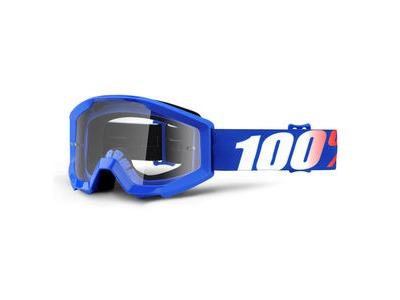 100% Strata Junior Goggles Nation / Clear Lens