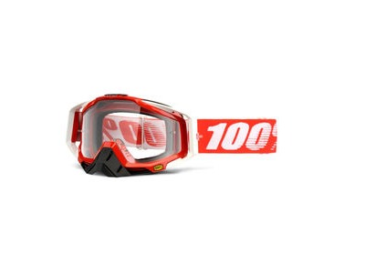 100% Racecraft Goggles Fire Red / Clear Lens