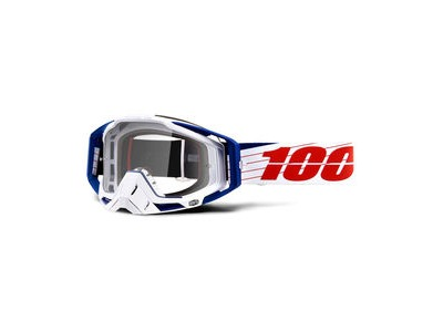 100% Racecraft Goggles Bibal White / Clear Lens
