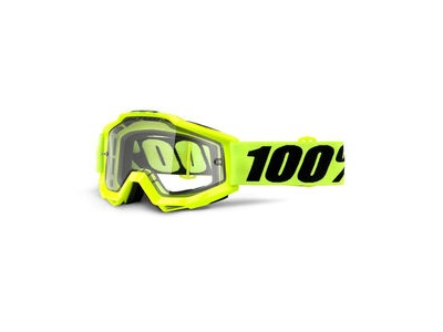 100% Accuri Enduro MTB Goggles Fluo Yellow / Clear Lens