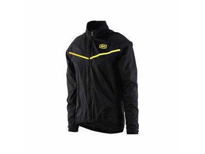100% Corridor Stretch Windbreaker Black / Yellow