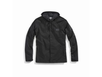 100% APACHE Hooded Snap Jacket Black