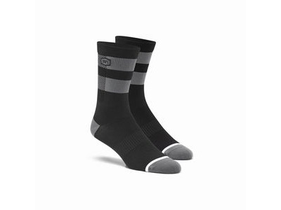 100% FLOW Performance Socks Black / Grey S / M