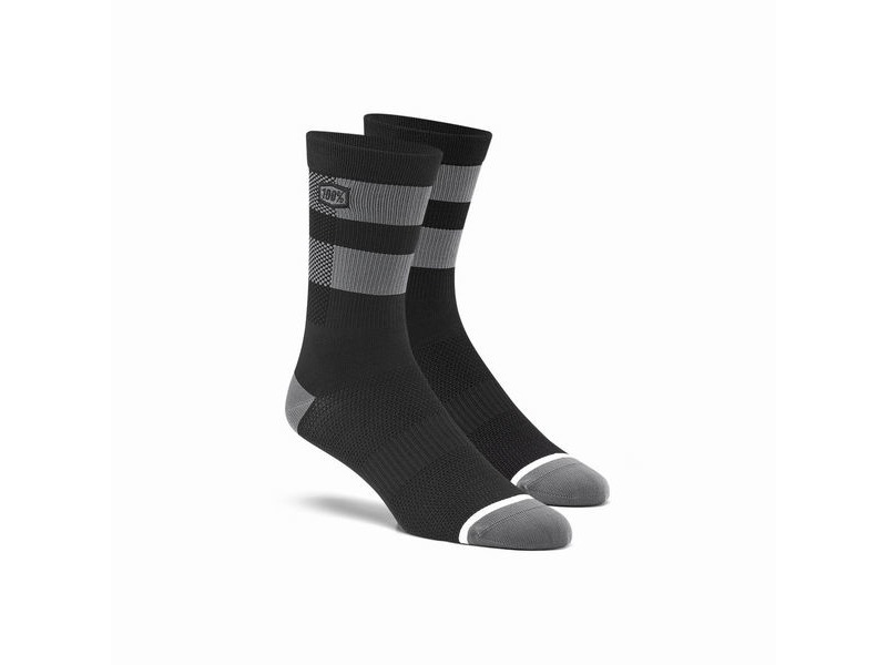 100% FLOW Performance Socks Black / Grey S / M click to zoom image