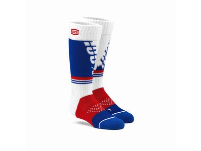 100% TORQUE Youth Moto Socks White