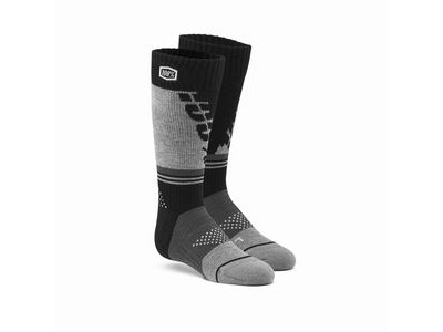 100% TORQUE Youth Moto Socks Black / Grey