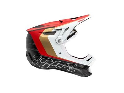100% Aircraft Carbon Helmet LTD Red