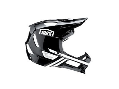 100% Trajecta Helmet Black / White