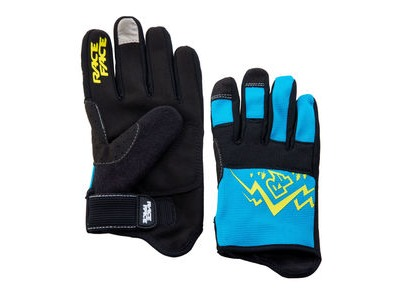 Race Face Dewey Youth Glove Blue/Yellow