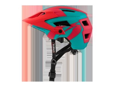 O Neal Defender 2 MTB Helmet Teal/Red